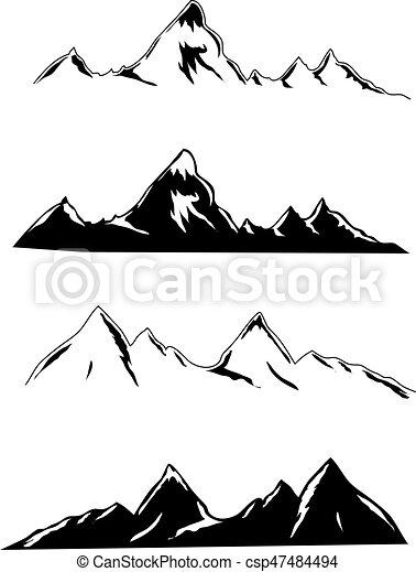 símbolos, montanha - csp47484494