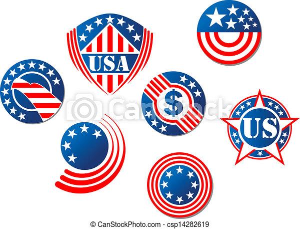 Estados Unidos y símbolos americanos - csp14282619