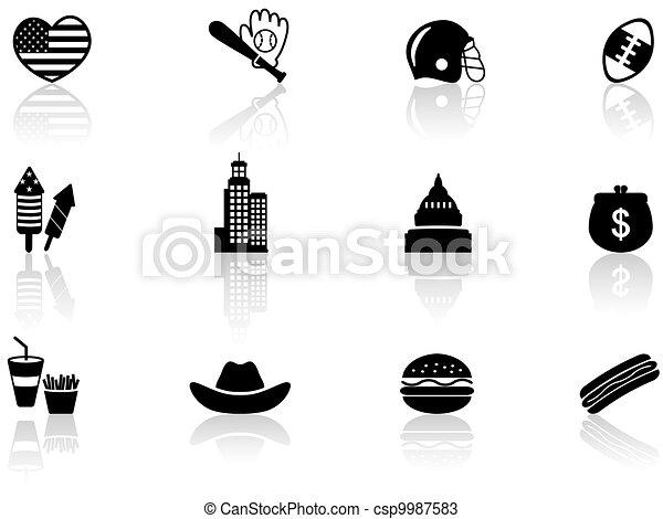 Simbolos americanos - csp9987583