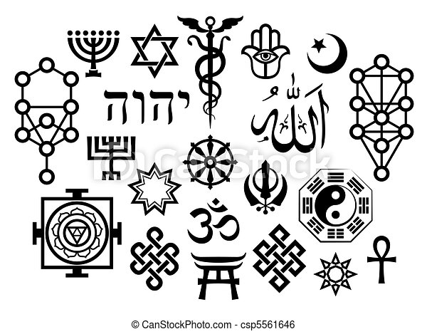 Simbolos religiosos orientales - csp5561646