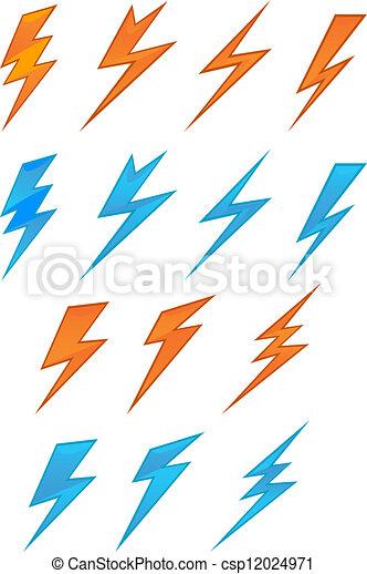 Simbolos de rayos - csp12024971