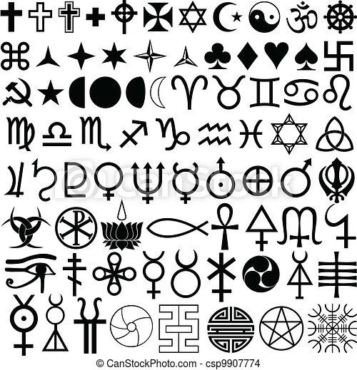 símbolos, religión, historia - csp9907774
