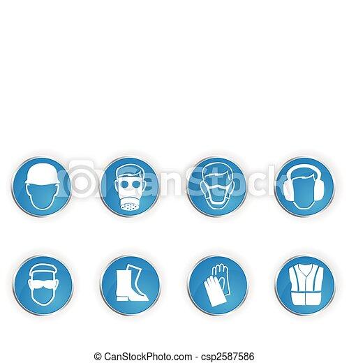 símbolos, segurança - csp2587586