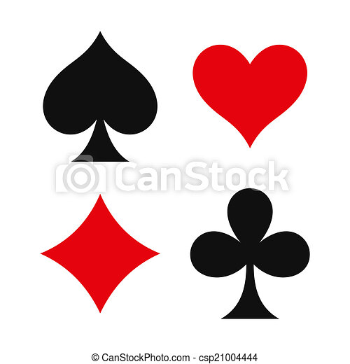 Los símbolos del traje de cartas - csp21004444