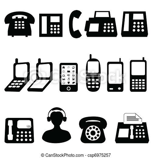 símbolos, telefone - csp6975257