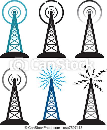 Simbolos de la torre de radio - csp7597413