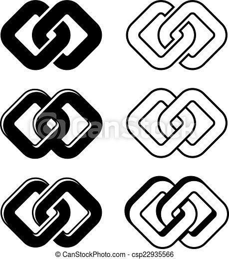 símbolos, unidade, vetorial, pretas, branca - csp22935566