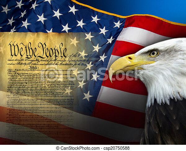 símbolos, unidas, -, estados, patriótico, américa - csp20750588