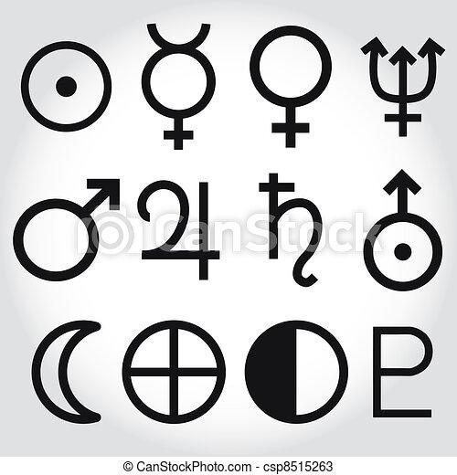 Simbolos zodiacos y astrología de la - csp8515263