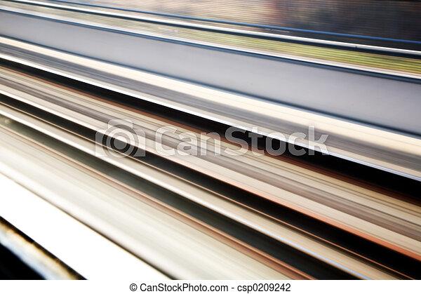 sín, rail-road, háttér - csp0209242