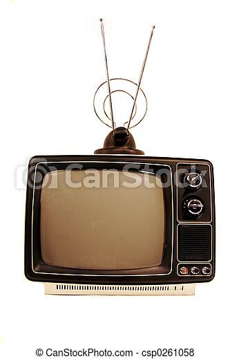 sólido, tv, estado, retro - csp0261058