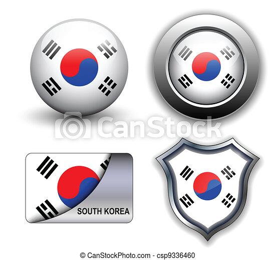 södra korea, ikonen - csp9336460