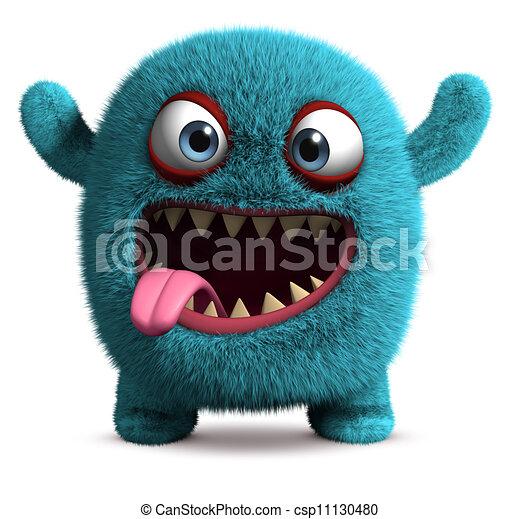 söt, monster, furry - csp11130480