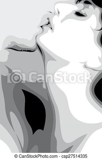 sort og hvid lesbisk kys