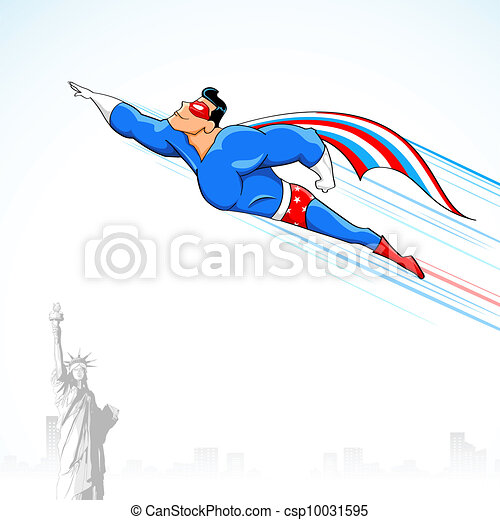 Superhéroe americano - csp10031595