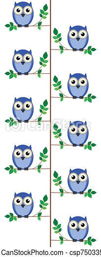 sýček, strom, min.čas i příč.min. od sit - csp7503354