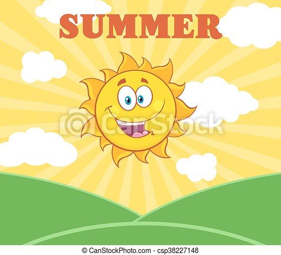 słońce, światło słoneczne, szczęśliwy - csp38227148