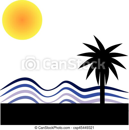 słońce, biały, dłoń, tło - csp45449321