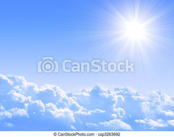 słońce, chmury - csp3263692