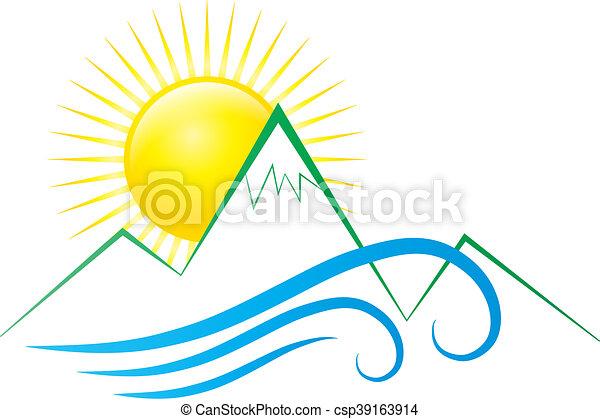 słońce, góry, fale - csp39163914