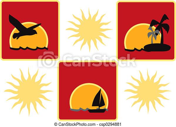 słońce, ikony - csp0294881