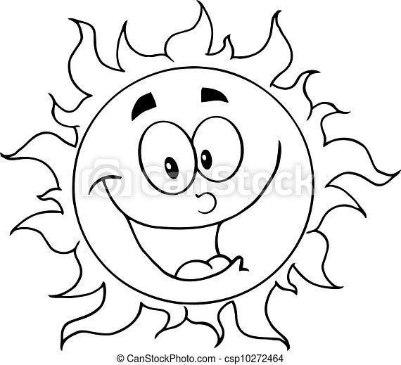 słońce, konturowany, szczęśliwy - csp10272464