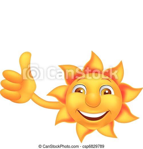 słońce, litera, rysunek - csp6829789