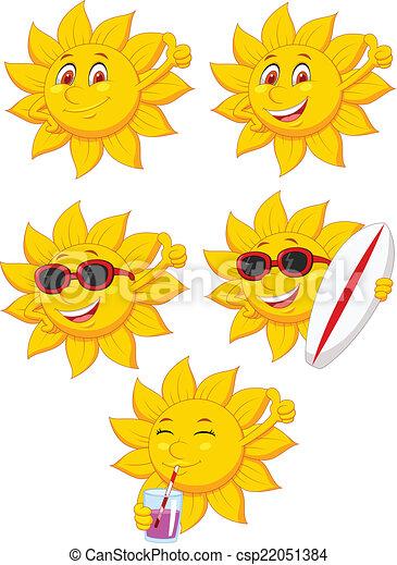słońce, litera, rysunek - csp22051384