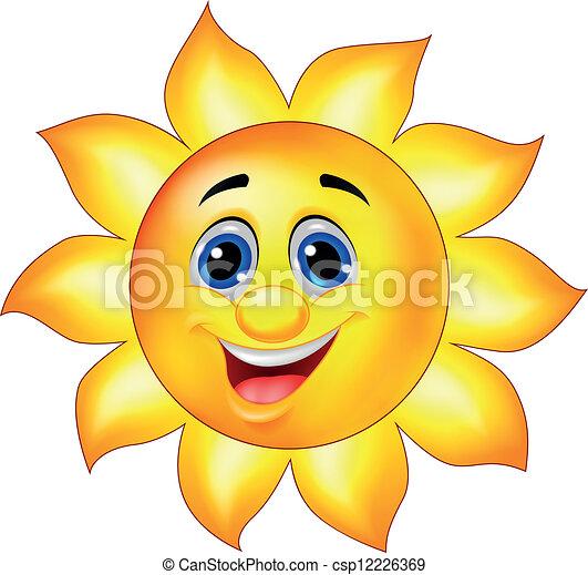 słońce, litera, rysunek - csp12226369