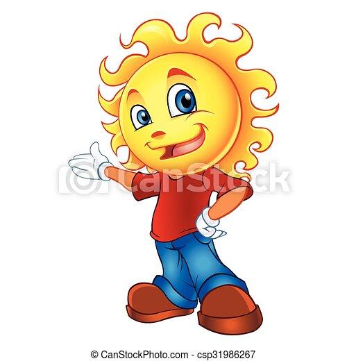 słońce, litera, rysunek - csp31986267
