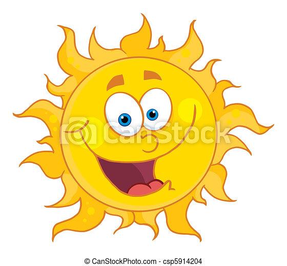 słońce, szczęśliwy - csp5914204