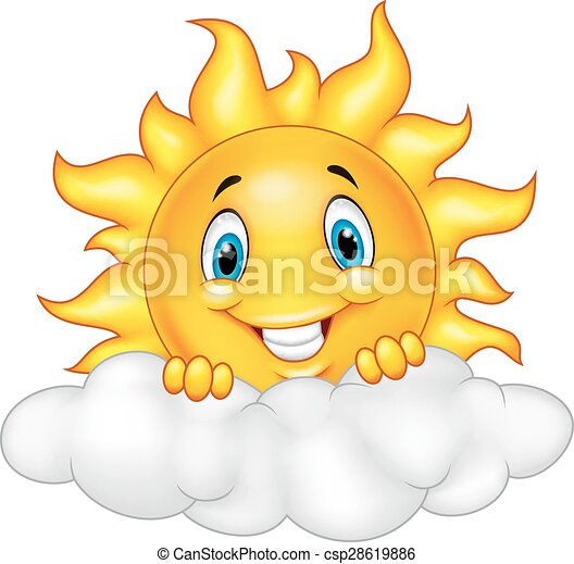 słońce, uśmiechanie się, maskotka, rysunek, characte - csp28619886