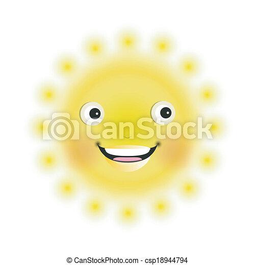 słońce, uśmiechanie się - csp18944794