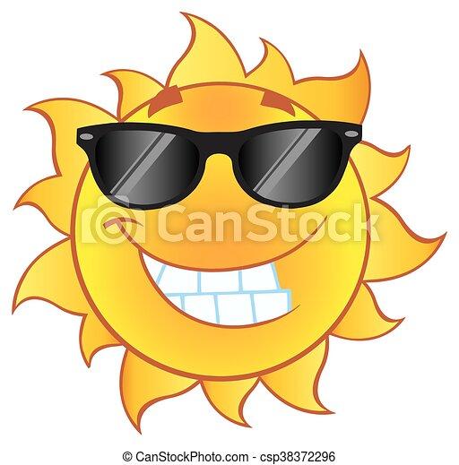 słońce, uśmiechanie się, sunglasses - csp38372296