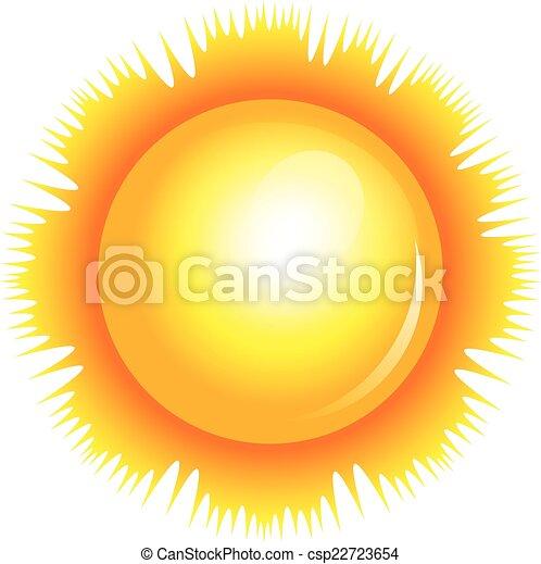 słońce, wektor, ilustracja - csp22723654