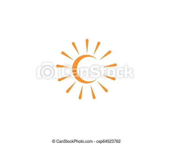 słońce, wektor, logo - csp64523762
