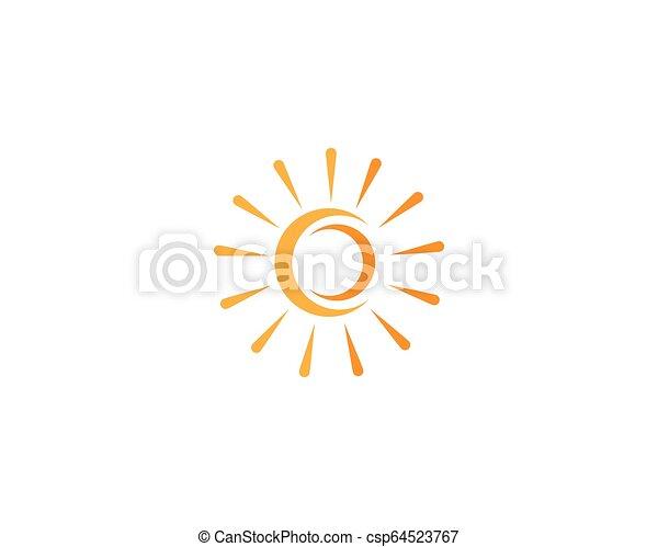 słońce, wektor, logo - csp64523767