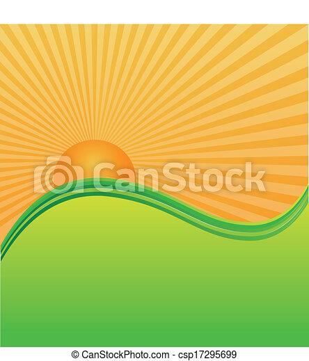 słońce, zielone górki, góry - csp17295699