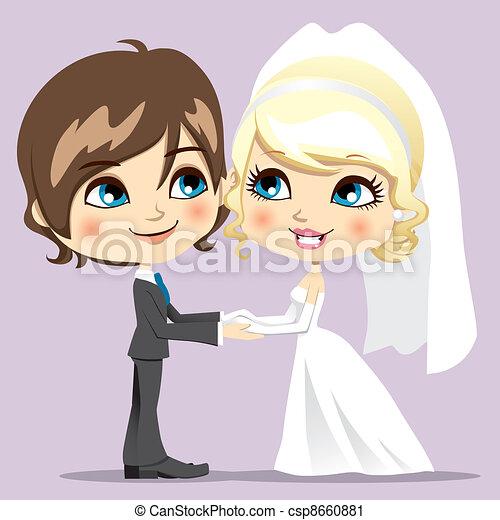 słodki, dzień, ślub - csp8660881