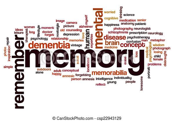 słowo, chmura, pamięć - csp22943129