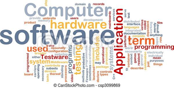 słowo, chmura, software - csp3099869