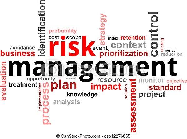 słowo, kierownictwo, -, ryzyko, chmura - csp12276855