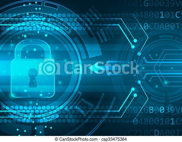 służba, abstrakcyjny, globalny, tło., wektor, bezpieczeństwo, futurystyczny - csp33475364