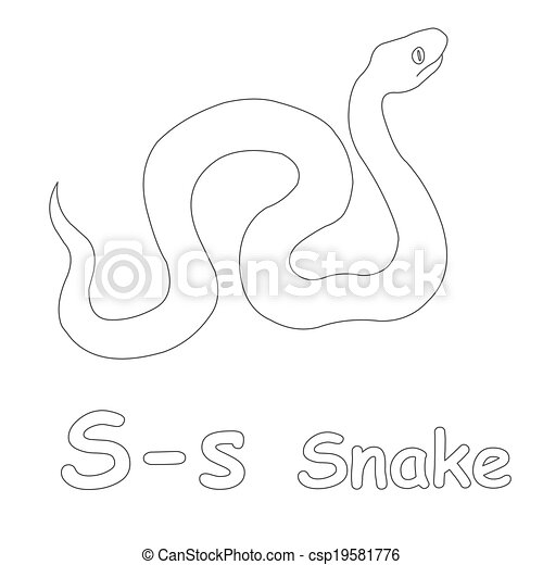 s for snake coloring page csp19581776