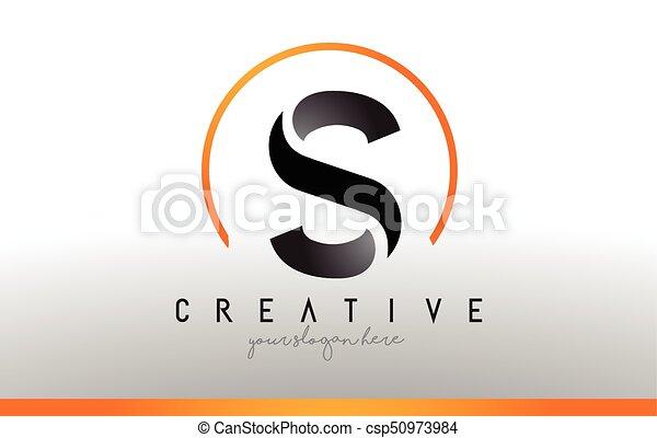 Cool Letter I Logo.S Letter Logo Design With Black Orange Color Cool Modern Icon Template