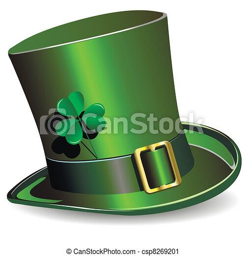 s., sombrero, patrick's, día - csp8269201