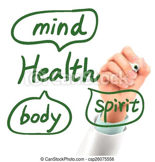 saúde, doutor, palavra, escrita - csp26075556