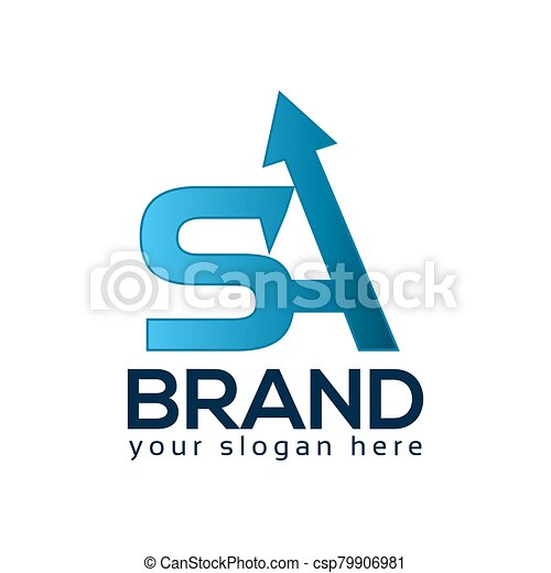 SA Logo With Arrows. Vector Illustration on white background - csp79906981