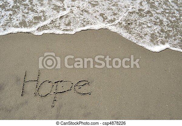 sabbia, speranza - csp4878226