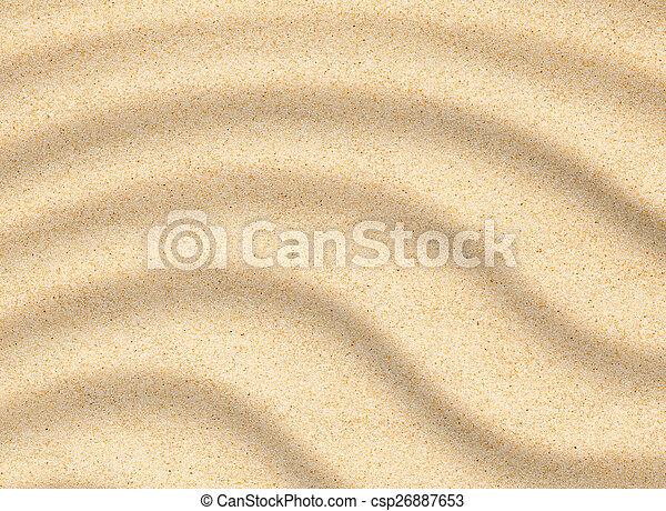 sabbia spiaggia, closeup, struttura - csp26887653
